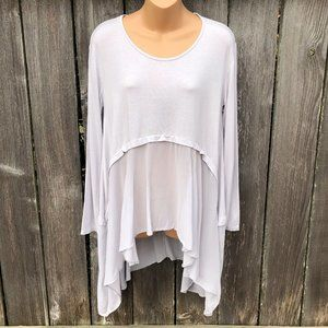 Bella Amore Italy Long Sleeve Tunic Top Flowy H/L